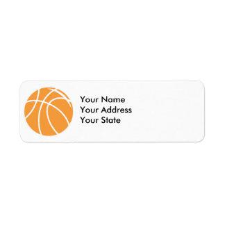 basketball simple vector graphic return address label