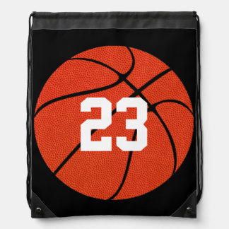 Basketball Skin Custom Number/Text Drawstring Bag