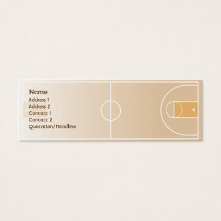 Basketball - Skinny Mini Business Card