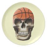 Basketball Skull Dinner Plate