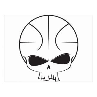 Basketball Skull Post Card
