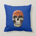 Basketball Skull Throw Pillows