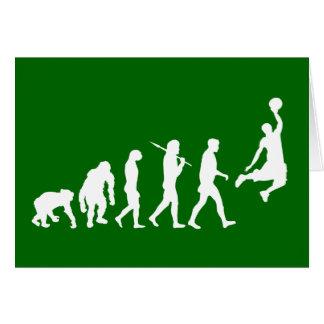 Basketball slam dunk evolution of basketball gift card