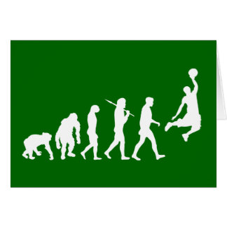 Basketball slam dunk evolution of basketball gift greeting card