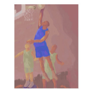 Basketball Slam Dunk, Postcard