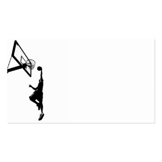 Basketball Slam Dunk Silhouette Business Card Templates