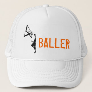 Basketball Slam Dunk Silhouette Trucker Hat