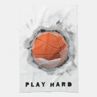 Basketball Slamdunk Tea Towel