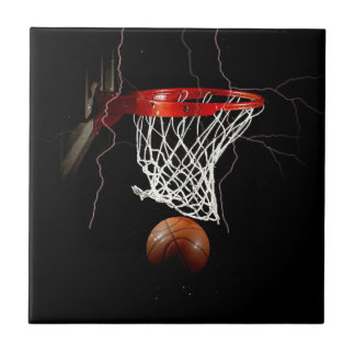 Basketball Small Square Tile