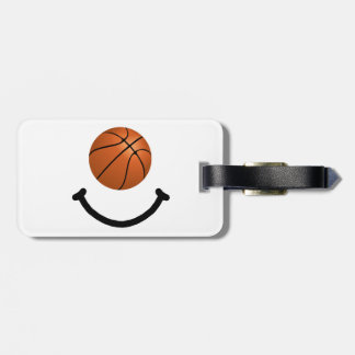 Basketball Smile Luggage Tag