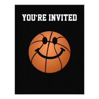 Basketball smiley face custom announcement