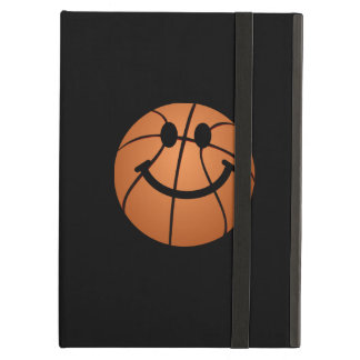 Basketball smiley face iPad folio case