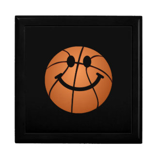 Basketball smiley face large square gift box