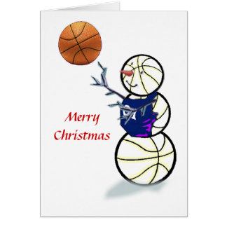 Basketball Snowman Christmas Cards