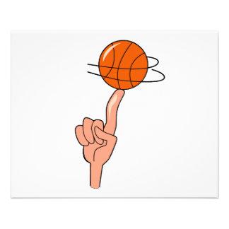 basketball spin on finger graphic full color flyer