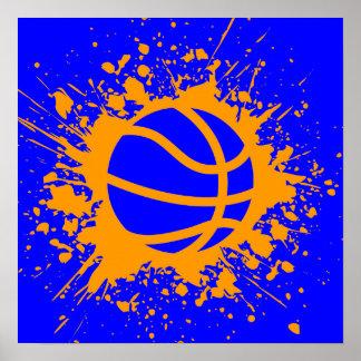 basketball splatz print