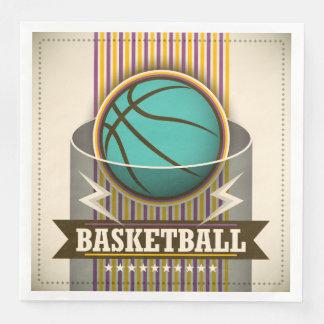 Basketball Sport Ball Game Cool Disposable Napkins