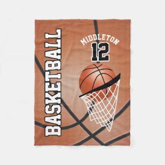 Basketball Sport Design Fleece Blanket