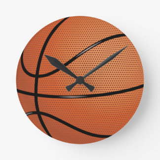 Basketball Sport Round Clock
