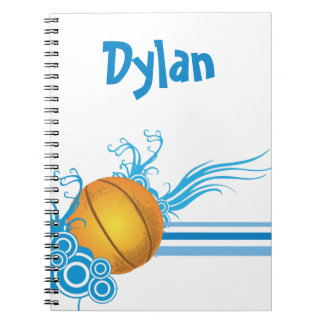 Basketball Sports Ball Game Personalized Name Notebooks