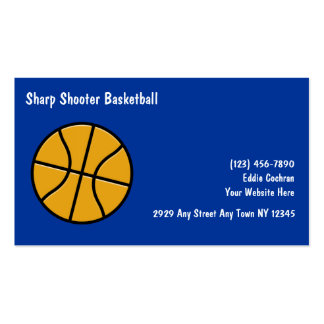 Basketball Sports Business Cards