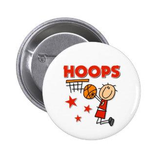 Basketball Sports Gift 6 Cm Round Badge