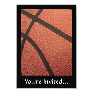 Basketball Sports Image 13 Cm X 18 Cm Invitation Card