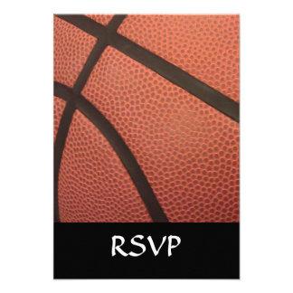 Basketball Sports Image Custom Invitations