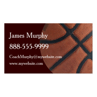 Basketball Sports Pack Of Standard Business Cards