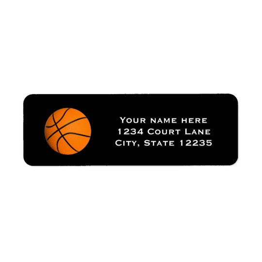 Basketball Sports Party Invitation Address Labels