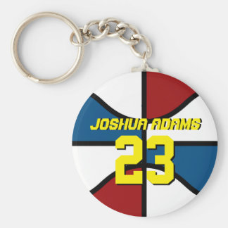 Basketball Sports Team Athletes Keychain