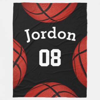 Basketball Sports Team Personalized Name blanket