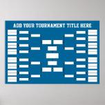 Basketball Sports Tournament Bracket Poster