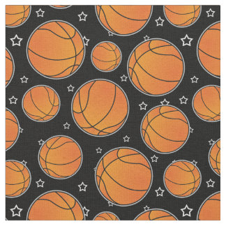 Basketball Star Pattern Fabric