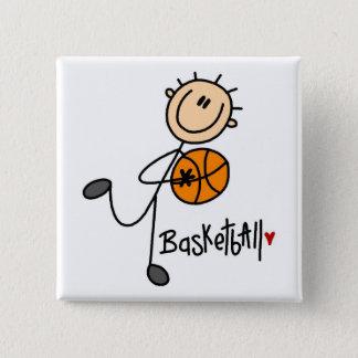 Basketball Stick Figure Button