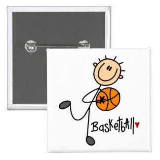 Basketball Stick Figure Button