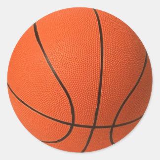 Basketball Classic Round Sticker