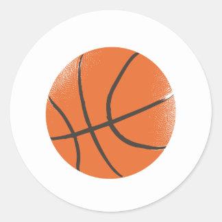 Basketball Round Stickers