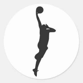 basketball round sticker