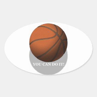 Basketball Oval Sticker