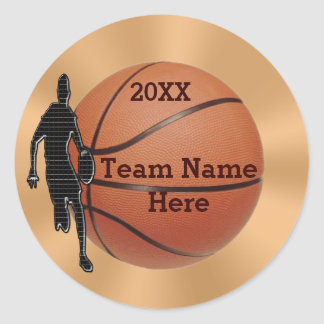 Basketball Stickers for Guys YEAR and TEAM NAME