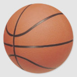 Basketball Stickers, to Hand Write NAMES, NUMBERS Round Sticker