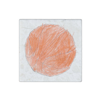 Basketball Stone Magnet