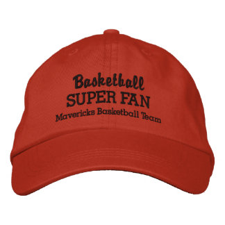 Basketball Super Fan Custom Sports Team Embroidered Hat