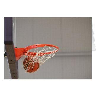 Basketball Swishing in the net card