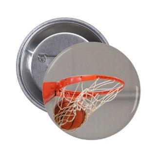 Basketball Swishing Through The Net Buttons