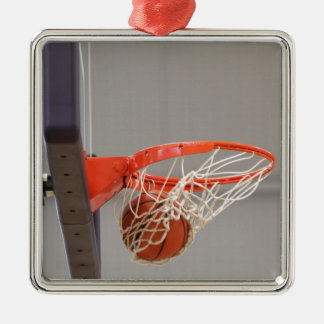 Basketball Swishing Through The Net Christmas Ornaments