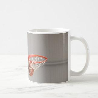 Basketball Swishing Through The Net Basic White Mug