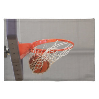 Basketball Swishing Through The Net Placemats
