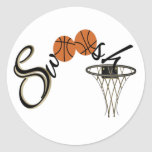 Basketball Swoosh Sticker